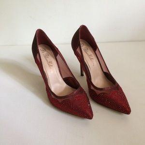 De Blossom Heels 7.5 Red Rhinestones/ Glittery